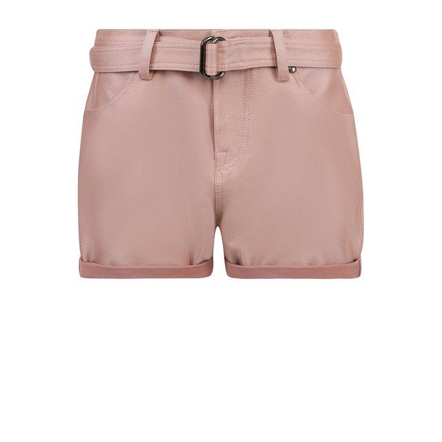 Однотонные шелковые мини-шорты с поясом Tom Ford