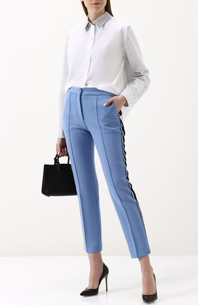 Женская хлопковая блуза свободного кроя Clu, цвет белый, арт. 18CLT147 в ЦУМ | Фото №1