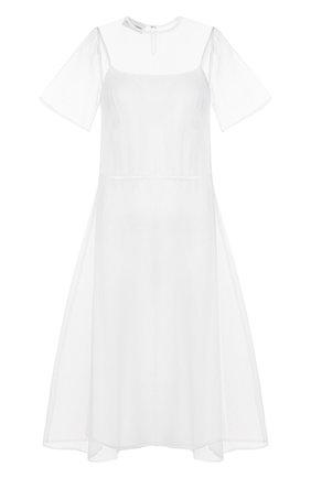 Шелковое платье-миди свободного кроя | Фото №1