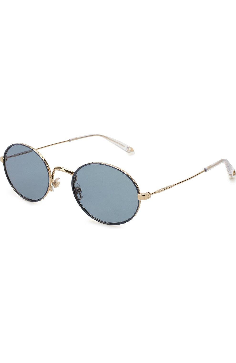 Женские солнцезащитные очки GIVENCHY серебряного цвета, арт. 7090 LKS | Фото 1