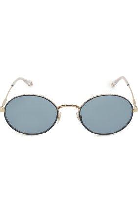 Женские солнцезащитные очки GIVENCHY серебряного цвета, арт. 7090 LKS | Фото 2