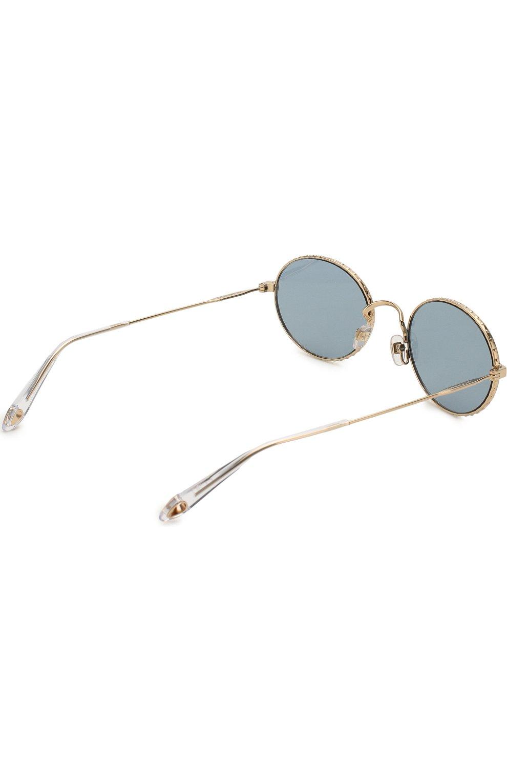 Женские солнцезащитные очки GIVENCHY серебряного цвета, арт. 7090 LKS | Фото 3