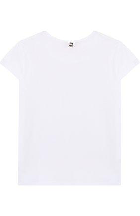 Хлопковая футболка с кружевной отделкой и пайетками | Фото №2