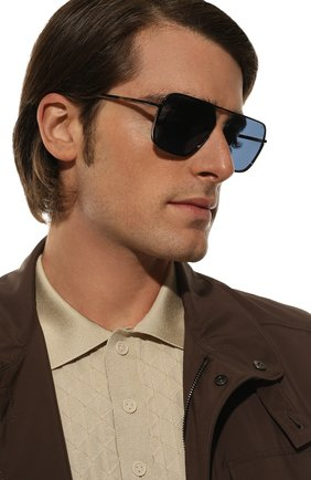 Мужские солнцезащитные очки DOLCE & GABBANA синего цвета, арт. 2193J-01/80 | Фото 2