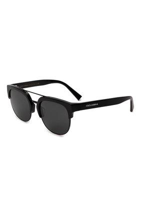 Мужские солнцезащитные очки DOLCE & GABBANA черного цвета, арт. 4317F-501/87 | Фото 1