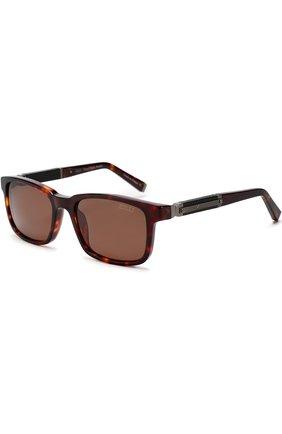 Мужские солнцезащитные очки ZILLI темно-коричневого цвета, арт. MIP-65011-00ACE/0001 | Фото 1