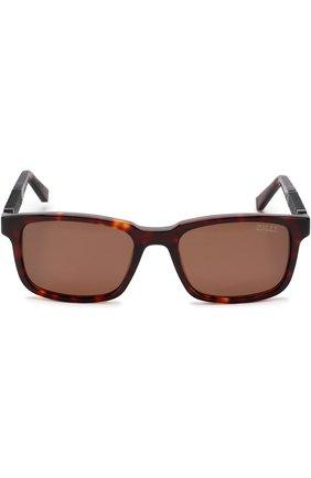 Мужские солнцезащитные очки ZILLI темно-коричневого цвета, арт. MIP-65011-00ACE/0001 | Фото 2