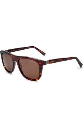 Мужские солнцезащитные очки ZILLI темно-коричневого цвета, арт. MIP-65004-00ACE/0001 | Фото 1