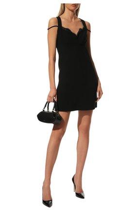 Женская кожаные туфли gianvito 105 GIANVITO ROSSI черного цвета, арт. G28470.15RIC.VERNER0   Фото 2