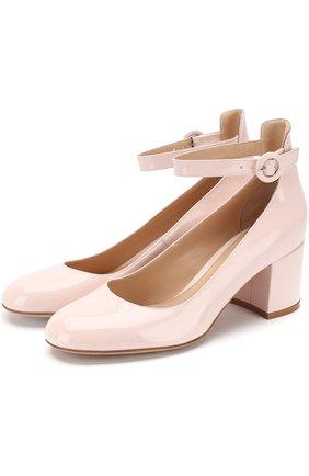 Лаковые туфли Greta на устойчивом каблуке | Фото №1