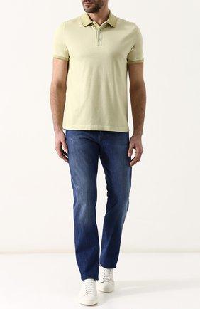 Мужские джинсы прямого кроя KITON синего цвета, арт. UPNJS/J06P92 | Фото 2