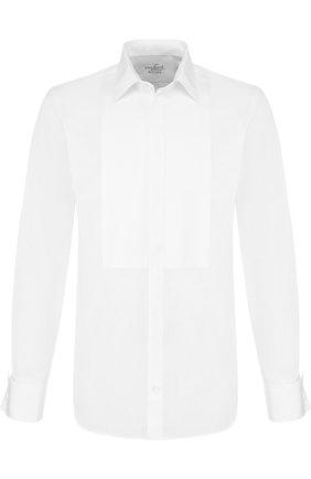 Хлопковая сорочка под смокинг Van Laack белая | Фото №1