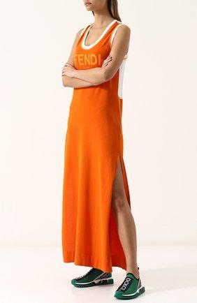 Женские текстильные кроссовки sorrento DOLCE & GABBANA зеленого цвета, арт. CK1595/AH677 | Фото 2