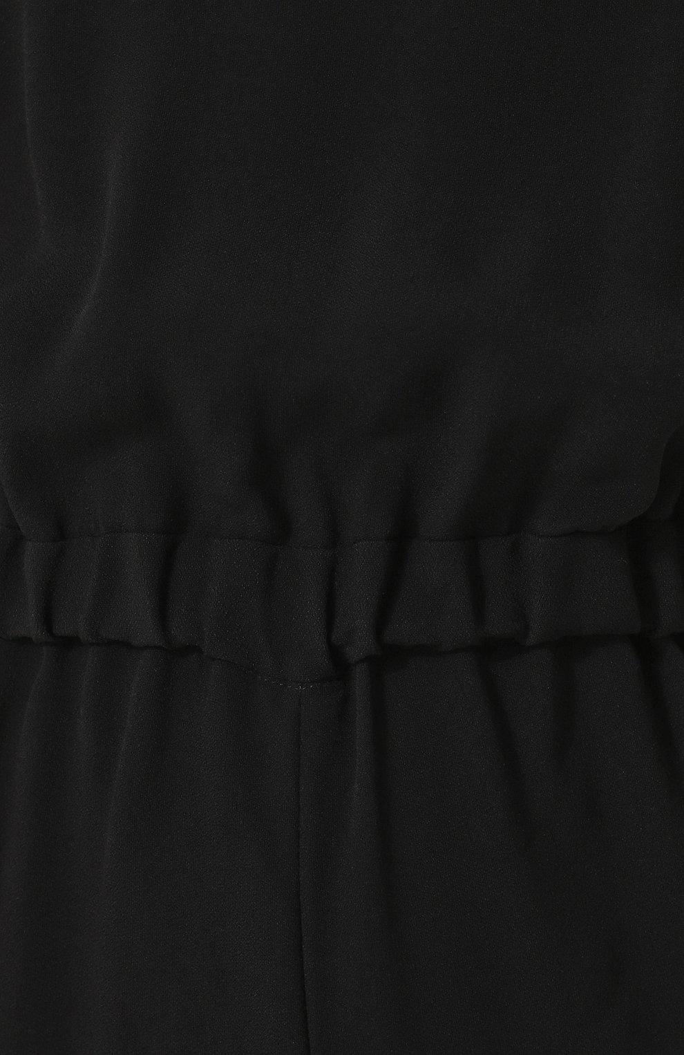 Женский приталенный мини-комбинезон из вискозы GIORGIO ARMANI черного цвета, арт. WAD04T/WA108 | Фото 5
