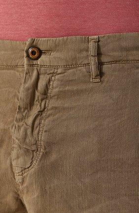 Мужские бермуды из смеси льна и хлопка LORO PIANA темно-бежевого цвета, арт. FAI1285 | Фото 5