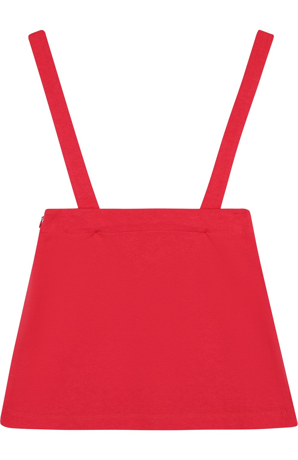Хлопковая юбка с аппликациями на подтяжках   Фото №2
