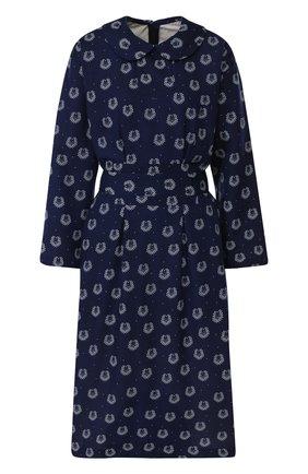 Приталенное платье-миди из вискозы Comme des Garcons GIRL синее | Фото №1