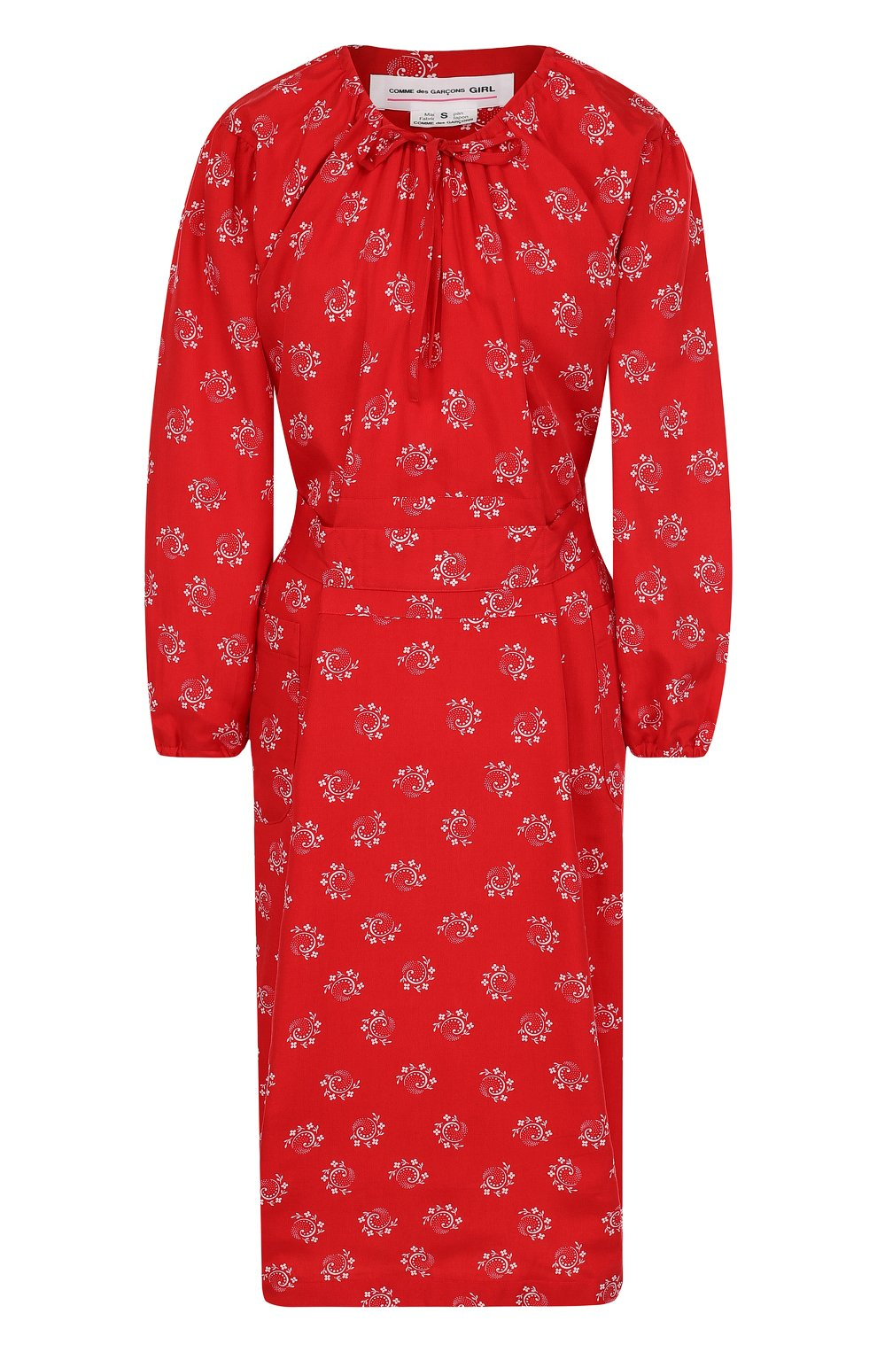 Приталенное платье-миди из вискозы   Фото №1