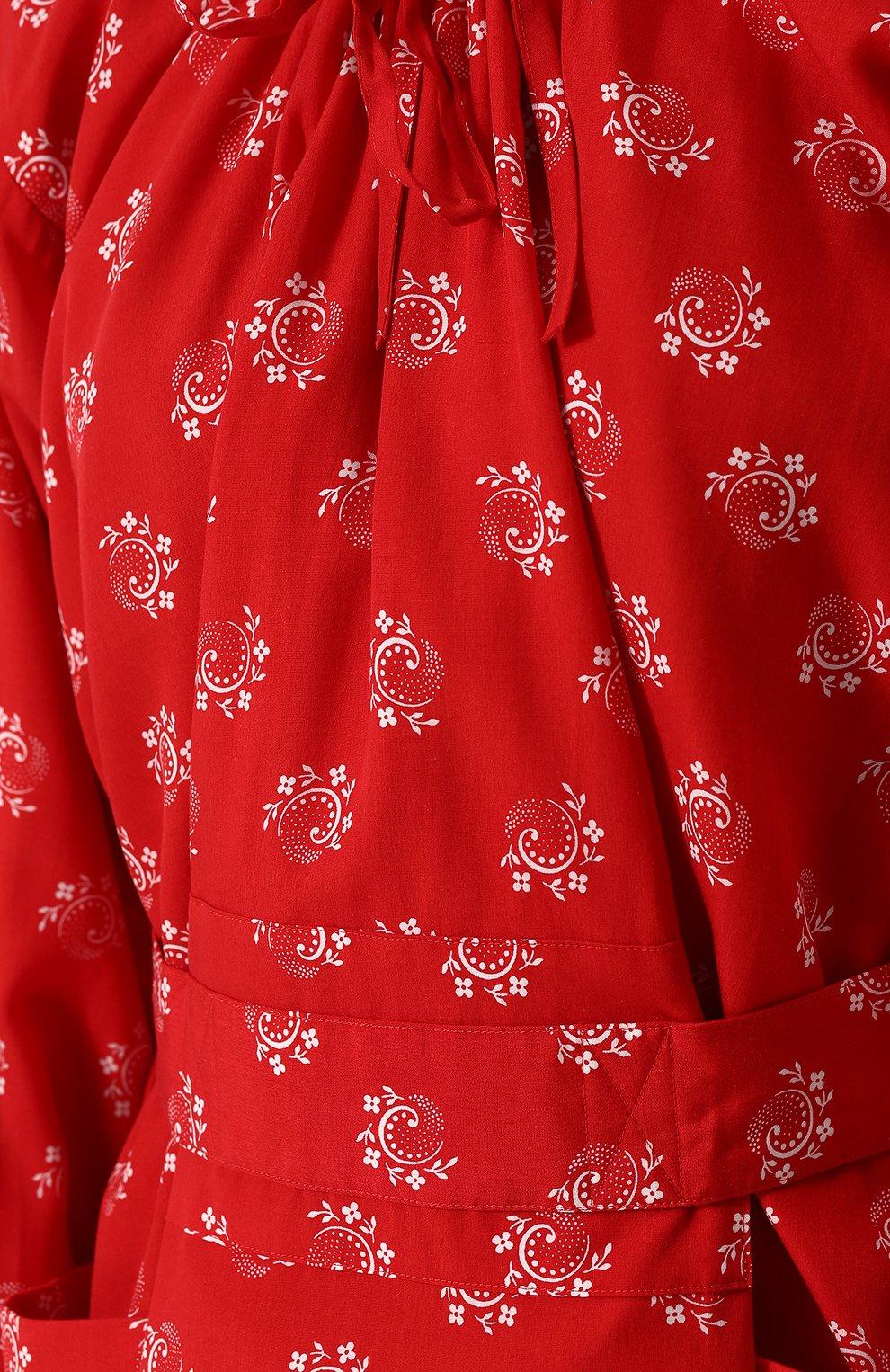 Приталенное платье-миди из вискозы Comme des Garcons GIRL красное   Фото №5