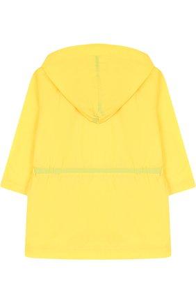 Двубортный плащ с капюшоном Leoca желтого цвета | Фото №1