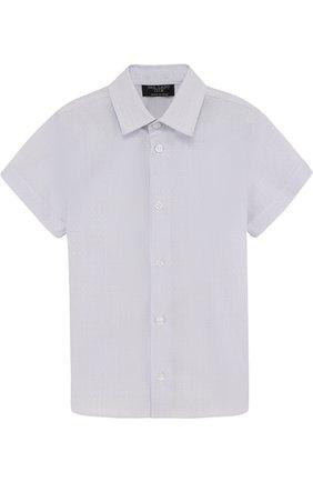 Хлопковая рубашка прямого кроя с короткими рукавами | Фото №1