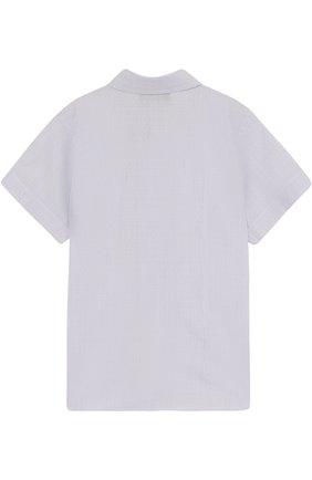 Детская хлопковая рубашка прямого кроя с короткими рукавами DAL LAGO голубого цвета, арт. N403/8418/3-6   Фото 2