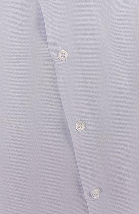 Детская хлопковая рубашка прямого кроя с короткими рукавами DAL LAGO голубого цвета, арт. N403/8418/3-6   Фото 3