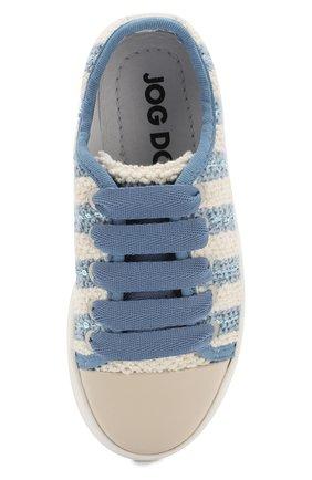 Детские текстильные кеды с лаковым мысом на шнуровке JOG DOG голубого цвета, арт. BUT22R/PATENTARMEN0/26-30 | Фото 4