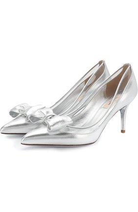 Туфли Valentino Glassglow из металлизированной кожи на шпильке | Фото №1