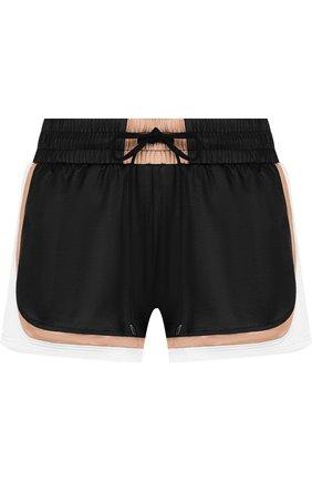 Мини-шорты с контрастной отделкой и карманами Koral разноцветные | Фото №1