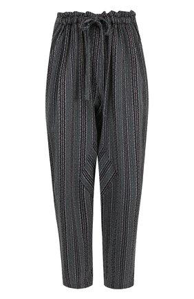 Укороченные брюки из вискозы с эластичным поясом | Фото №1