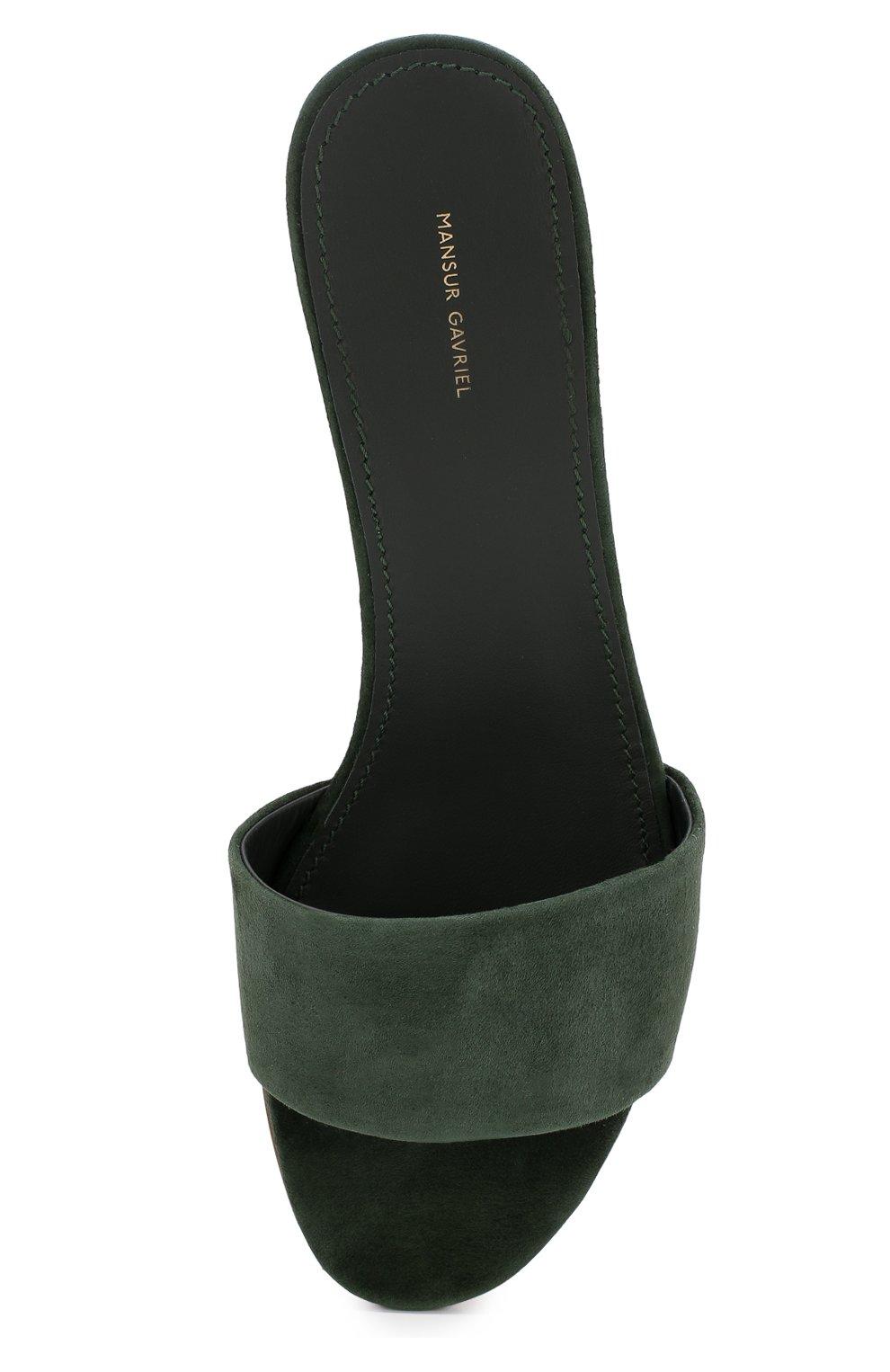 Замшевые сабо на устойчивом каблуке | Фото №5