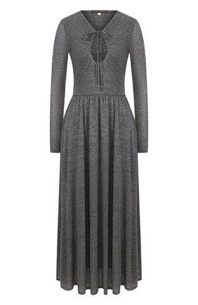 Приталенное платье-миди из вискозы | Фото №1
