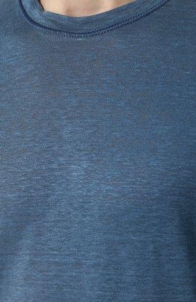 Льняной лонгслив с круглым вырезом | Фото №5