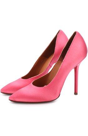 Атласные туфли на шпильке | Фото №1