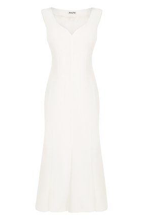Приталенное платье-миди из хлопка   Фото №1