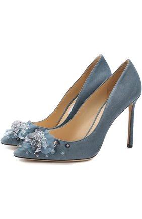 Замшевые туфли Romy 85 на шпильке   Фото №1