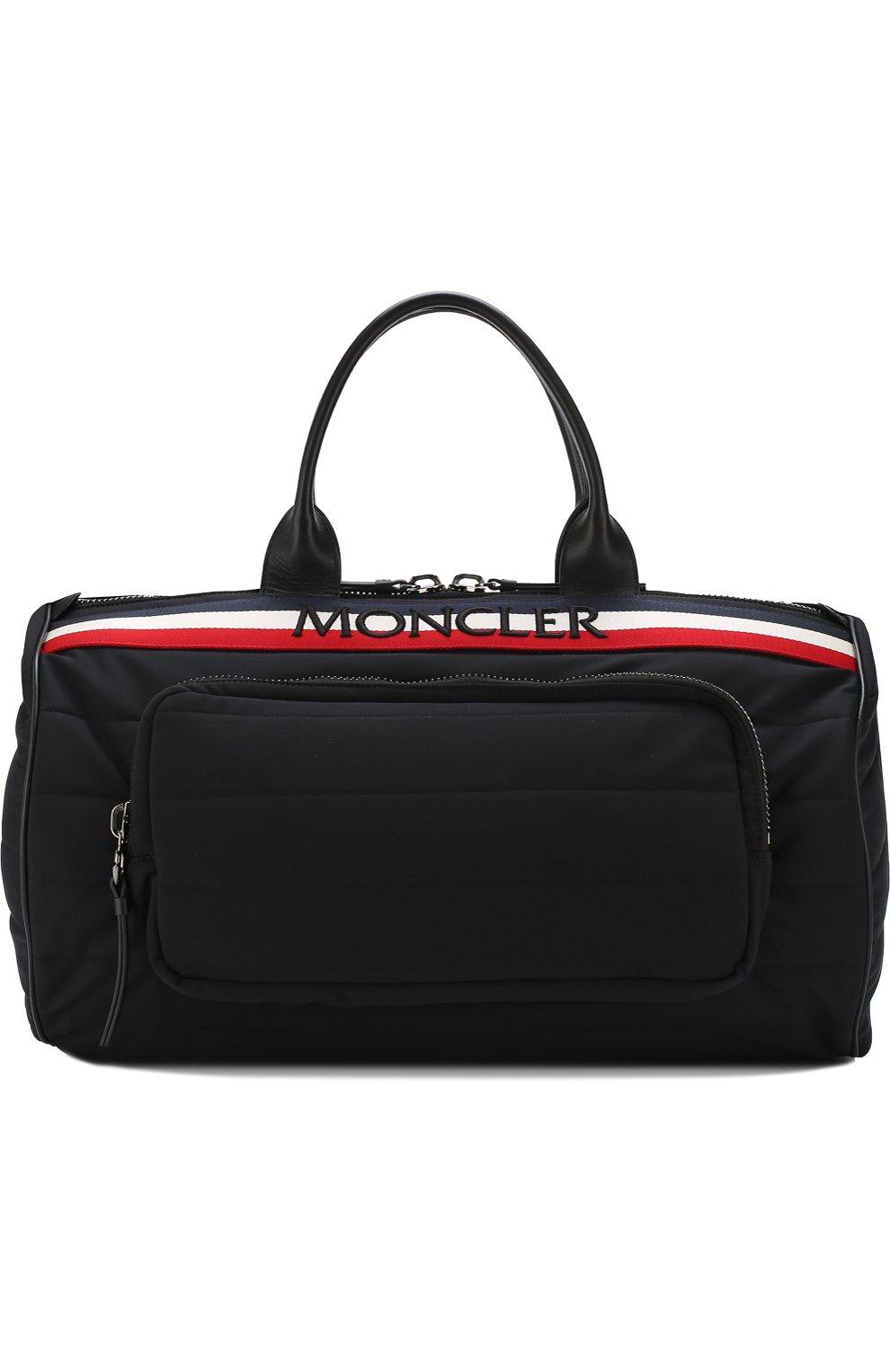 Мужская текстильная дорожная сумка с плечевым ремнем MONCLER черного цвета, арт. D1-09A-40026-10-539AX | Фото 1