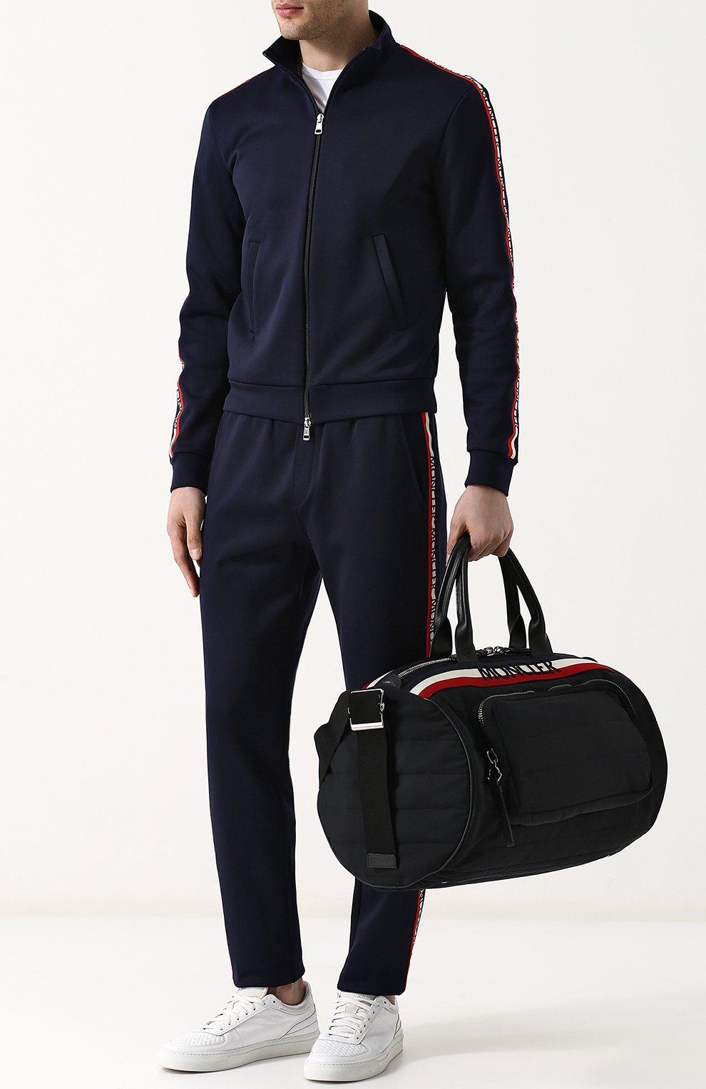 Мужская текстильная дорожная сумка с плечевым ремнем MONCLER черного цвета, арт. D1-09A-40026-10-539AX | Фото 2