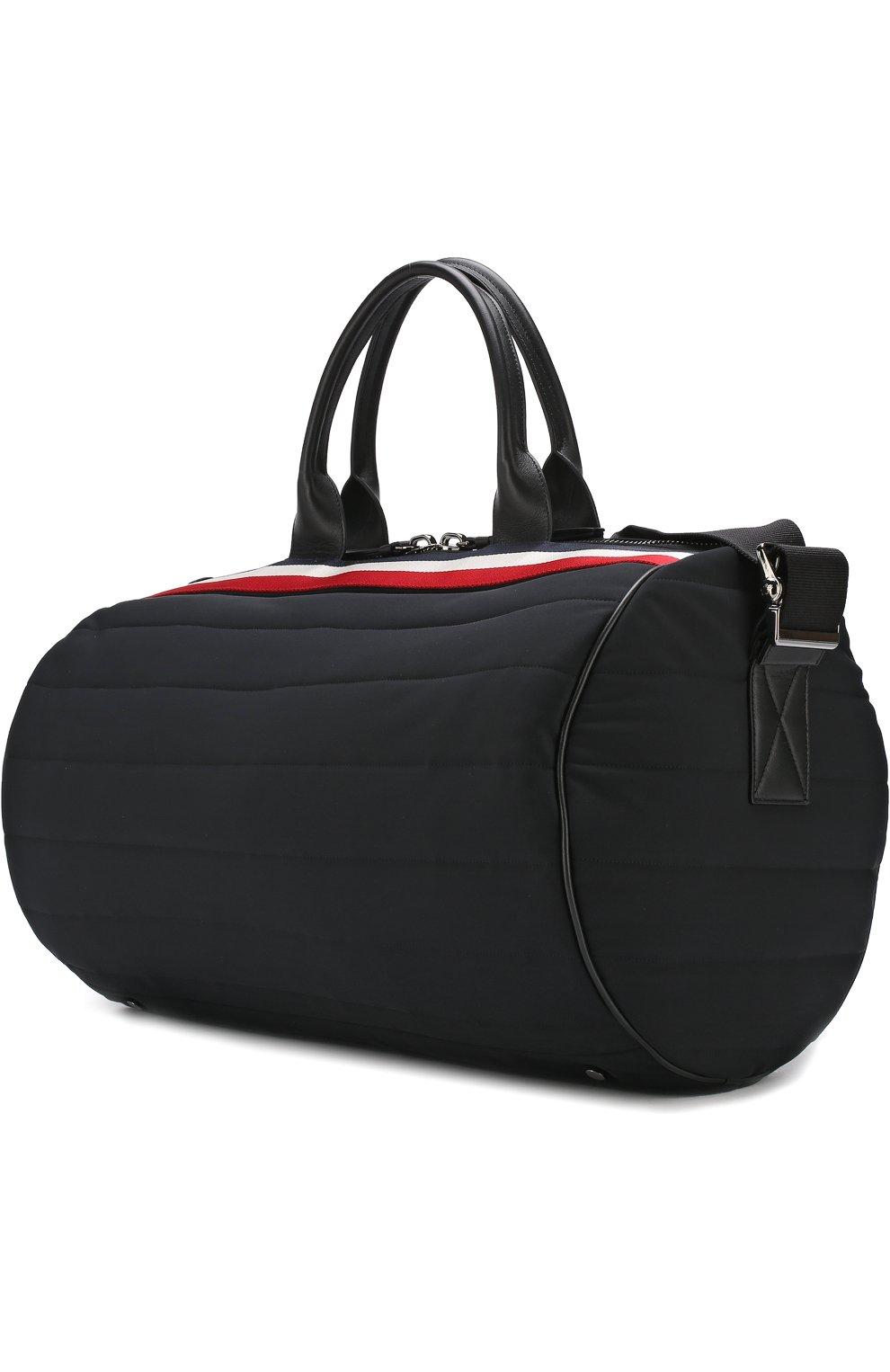 Мужская текстильная дорожная сумка с плечевым ремнем MONCLER черного цвета, арт. D1-09A-40026-10-539AX | Фото 3