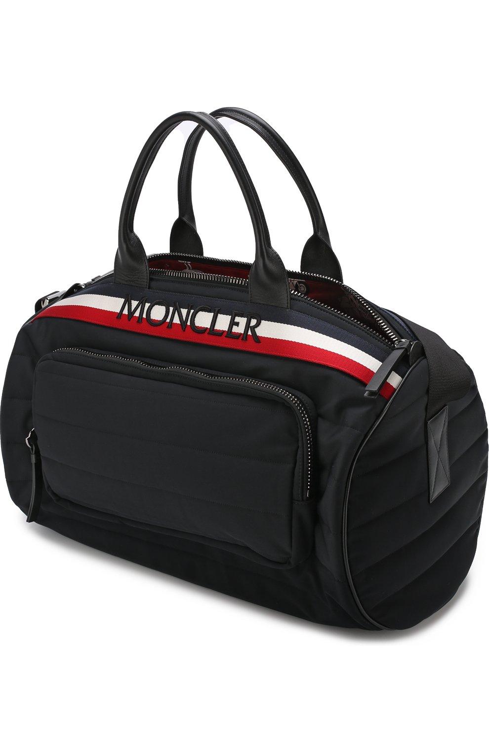 Мужская текстильная дорожная сумка с плечевым ремнем MONCLER черного цвета, арт. D1-09A-40026-10-539AX | Фото 4
