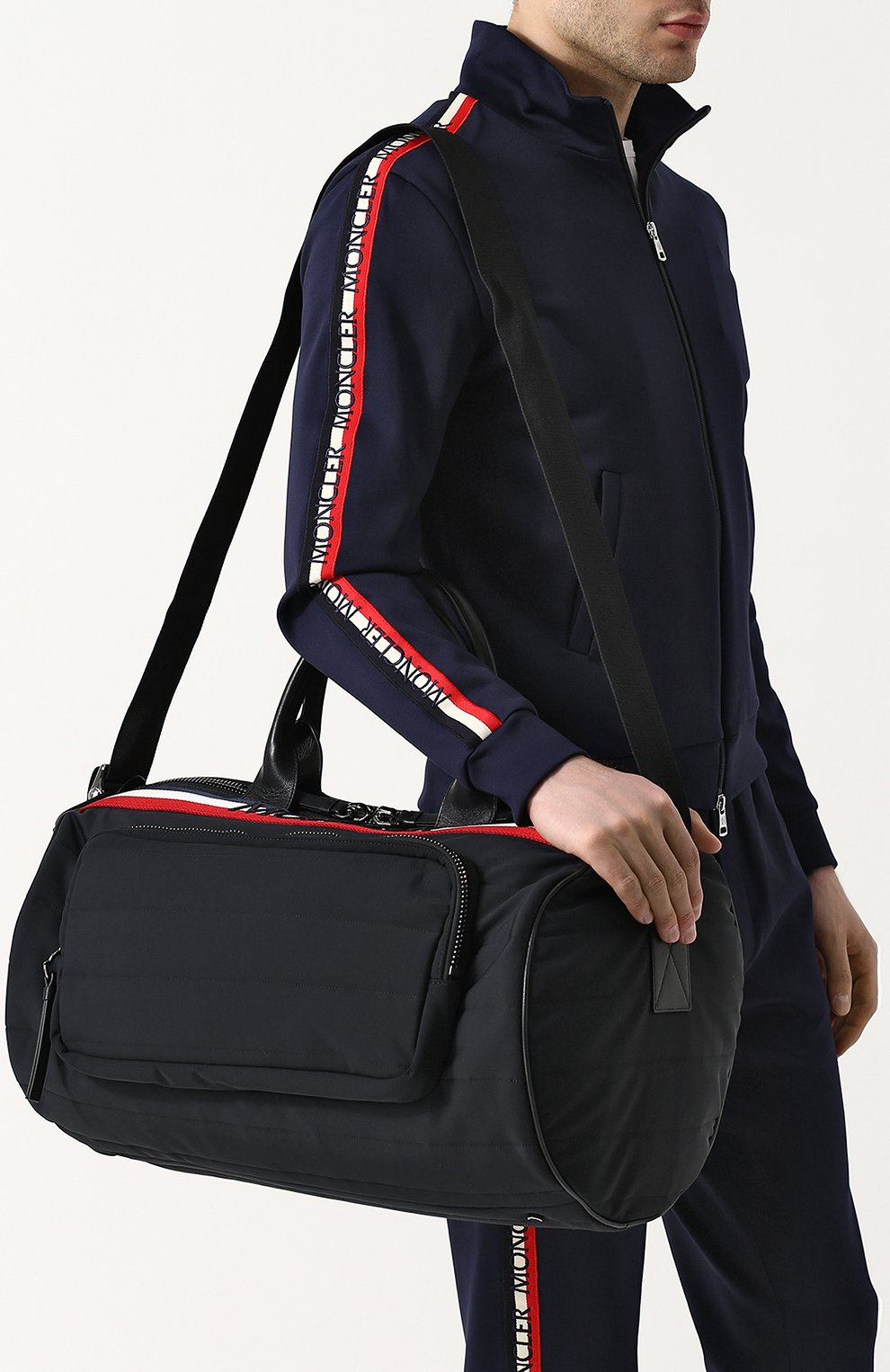 Мужская текстильная дорожная сумка с плечевым ремнем MONCLER черного цвета, арт. D1-09A-40026-10-539AX | Фото 5