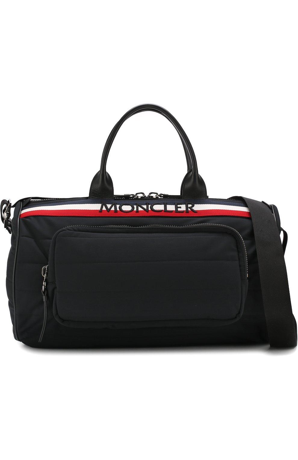 Мужская текстильная дорожная сумка с плечевым ремнем MONCLER черного цвета, арт. D1-09A-40026-10-539AX | Фото 6