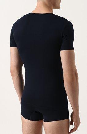 Хлопковая футболка с V-образным вырезом   Фото №4