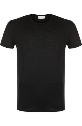 Хлопковая футболка с круглым вырезом Perofil черная | Фото №1
