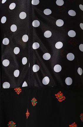 Женская юбка-миди асимметричного кроя с принтом J.W. ANDERSON черного цвета, арт. SK50WS18 640/999 | Фото 5