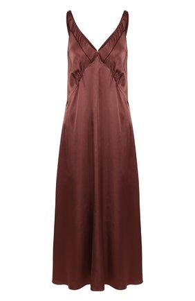 Однотонное платье-миди из вискозы
