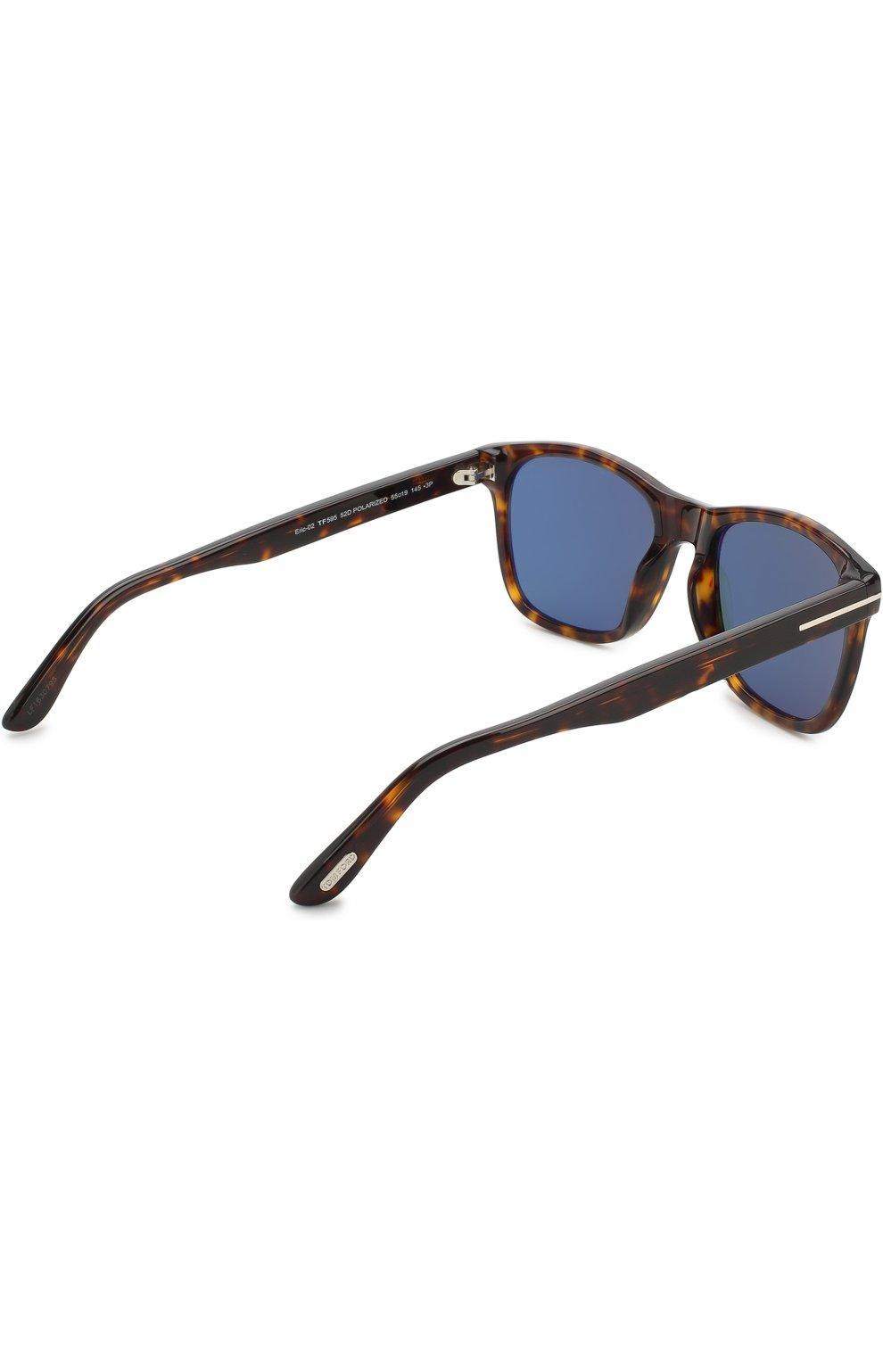 Мужские солнцезащитные очки TOM FORD коричневого цвета, арт. TF595 52D | Фото 3
