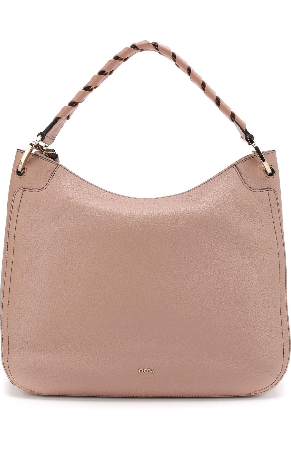 Женская сумка-тоут metropolis FURLA светло-розового цвета — купить ... 0f5cc0f7179