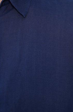 Льняная рубашка с воротником кент | Фото №5